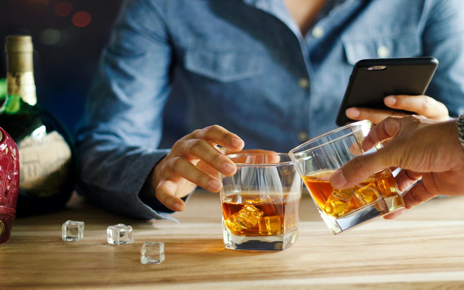 whiskey buyer on phone for hubspot LP